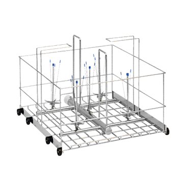 APLW 002 - Mobile unit for optimum loading of large-volume lab glassware, 1.3 - 2.6 gal. (5 - 10 l.--stainless steel exterior