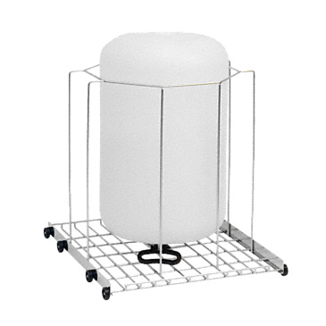 APLW 004 - Mobile unit for optimum loading of large-volume lab glassware up to 13.2 gal. (50 l. )--stainless steel exterior