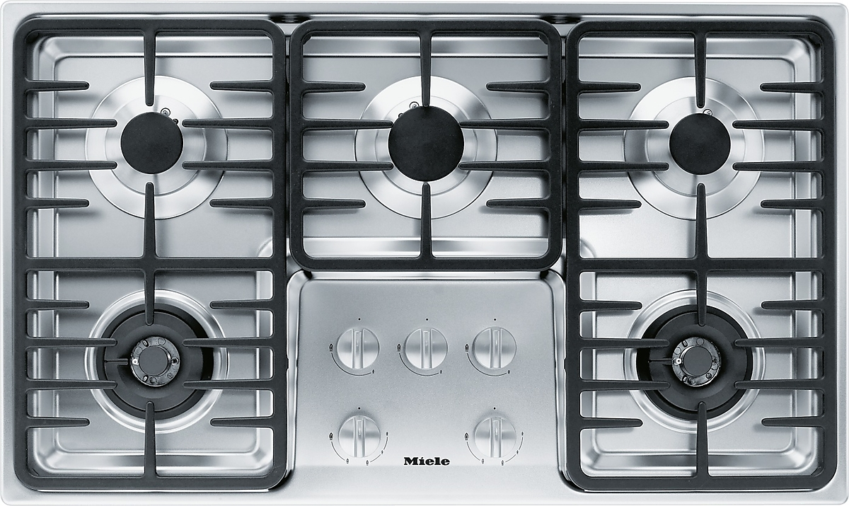 Km 3475 G Gas Cooktop With 2 Dual Wok Burners For Particularly Versatile Cooking Convenience